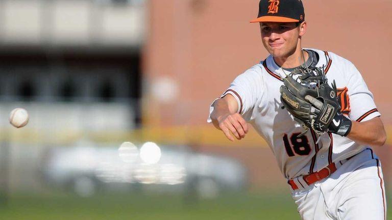 Babylon High School second baseman #18 Ricky Negron