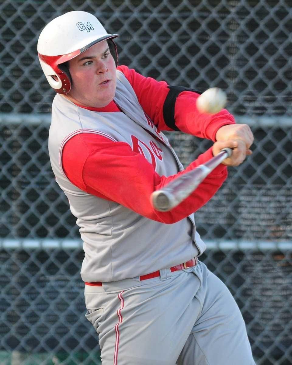 Center Moriches High School first baseman #18 Matt