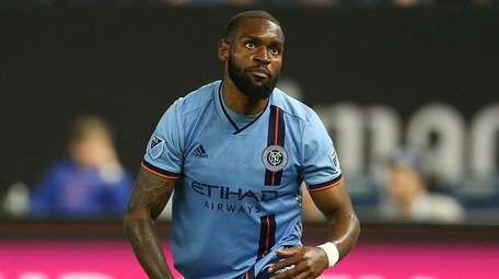 New York City FC defender Sebastien Ibeagha during