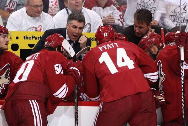 Head coach Dave Tippett of the Phoenix Coyotes