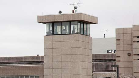 A guard tower of the Nassau County jail