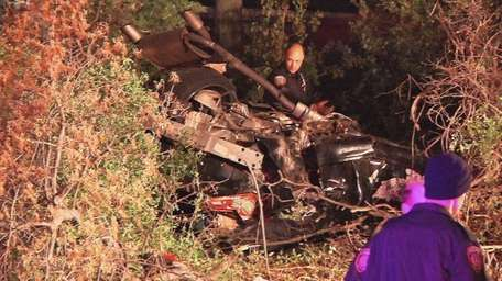A 3:18 a.m. crash involved one car and