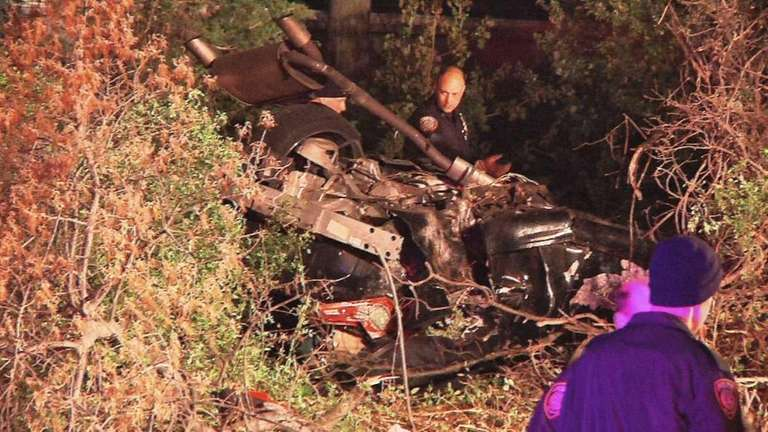 A 3:18 a.m. crash involved one car and
