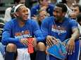 New York Knicks' Carmelo Anthony, left, and Amar'e
