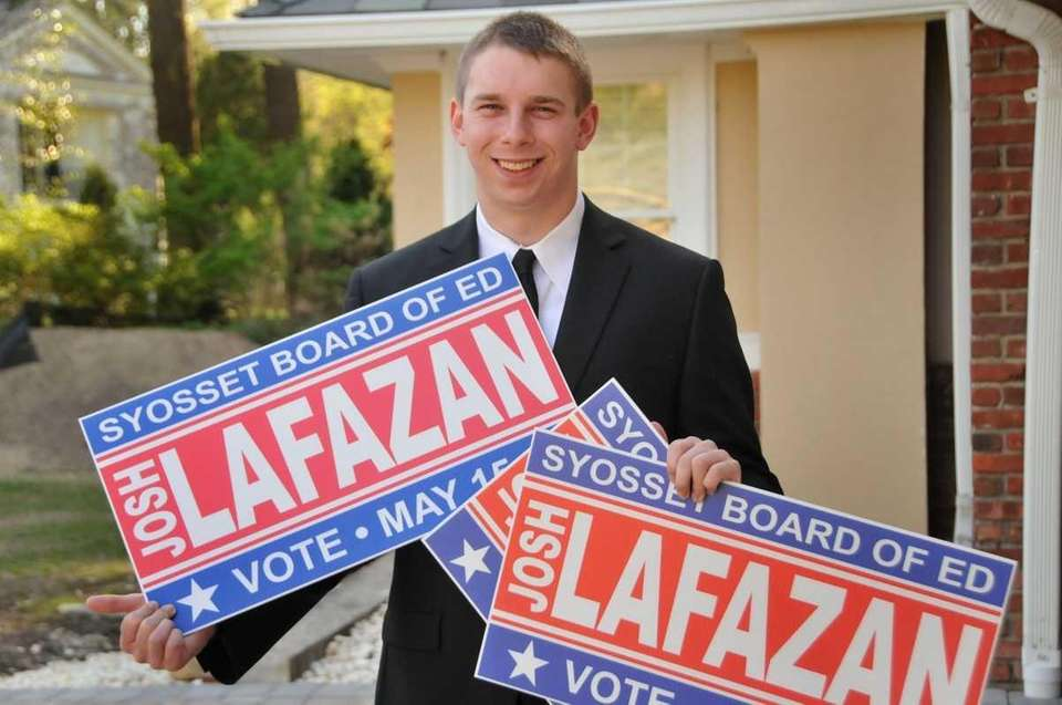 Josh Lafazan, 18, a Syosset High School senior,