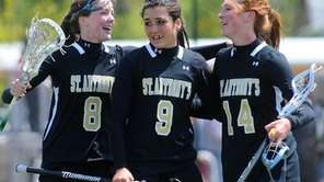 St. Anthony's High School varsity girls lacrosse teammates,