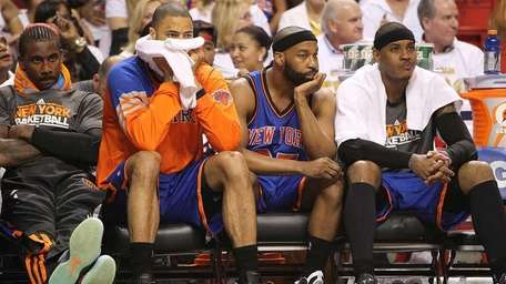 New York Knicks , from left-right, Amar'e Stoudemire,