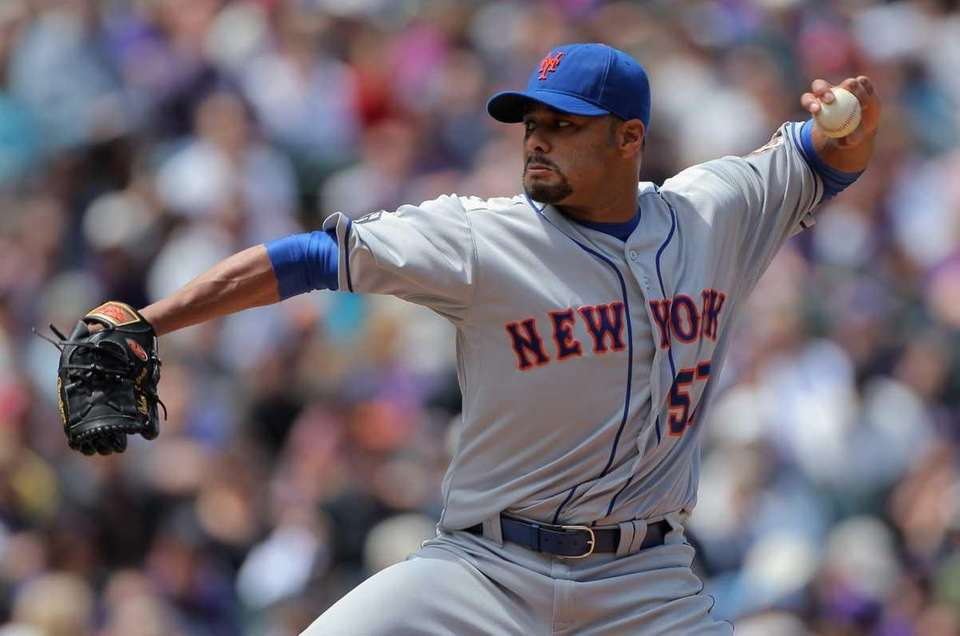 Starting pitcher Johan Santana #57 of the New