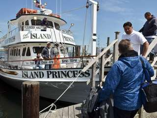 The Island Princess, owned by Captain Nick Manzari,