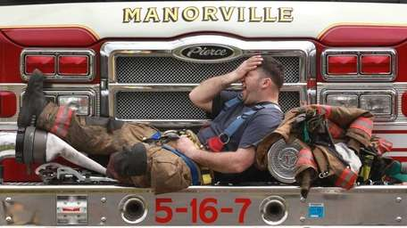 Firefighter Chris Dellavalle of the Manorville Fire Department