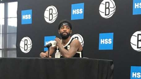 Kyrie Irving at Nets media day on Sept.