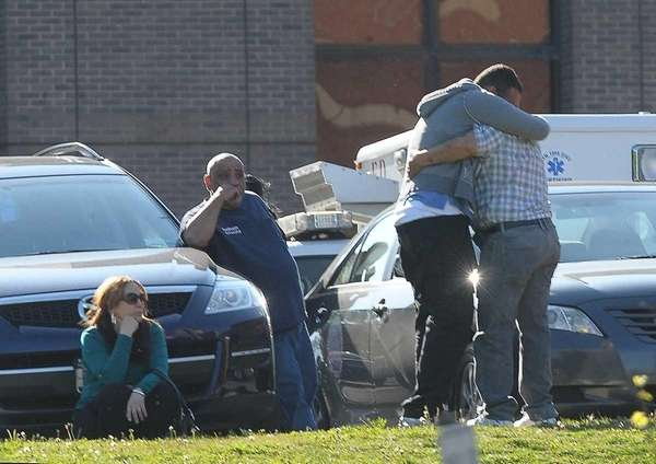 About 40 mourners gathered at Jacobi Medical Center,