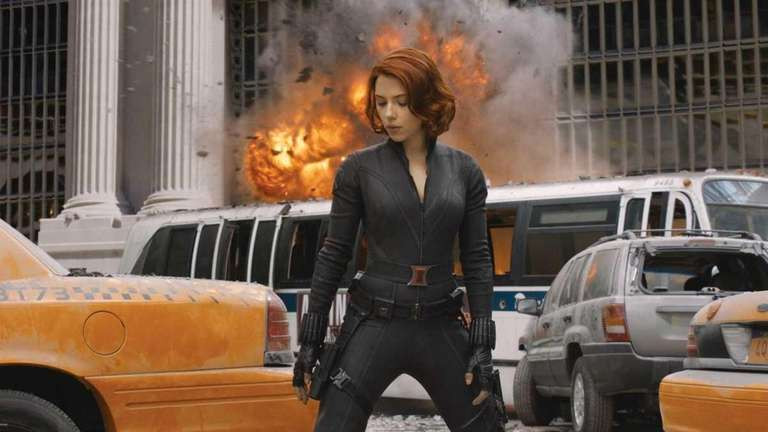 Scarlett Johansson stars as Black Widow in