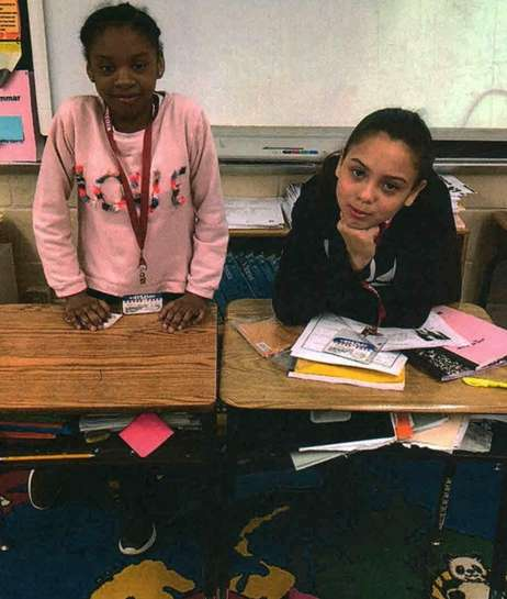 Kidsday Reporters Aaliyah Davis, left, and Giana Torres