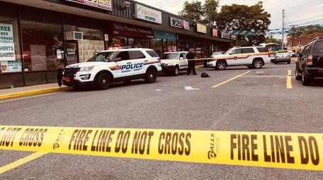 The scene outside an Oceanside strip mall as