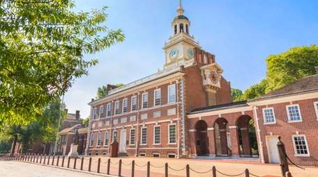 Independence Hall, a popular tourist stop in Philadelphia,