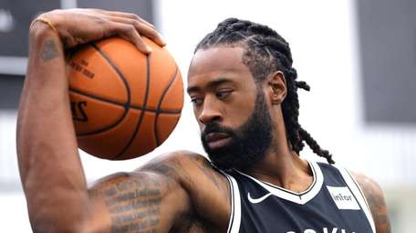 DeAndre Jordan of the Brooklyn nets poses during