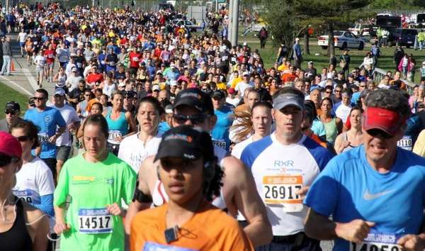 Runners on the course at the Long Island