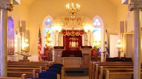 Inside Temple Adas Israel in Sag Harbor.