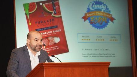 Ian Parker of Holbrook-based Pura Vida Vitamins pitched