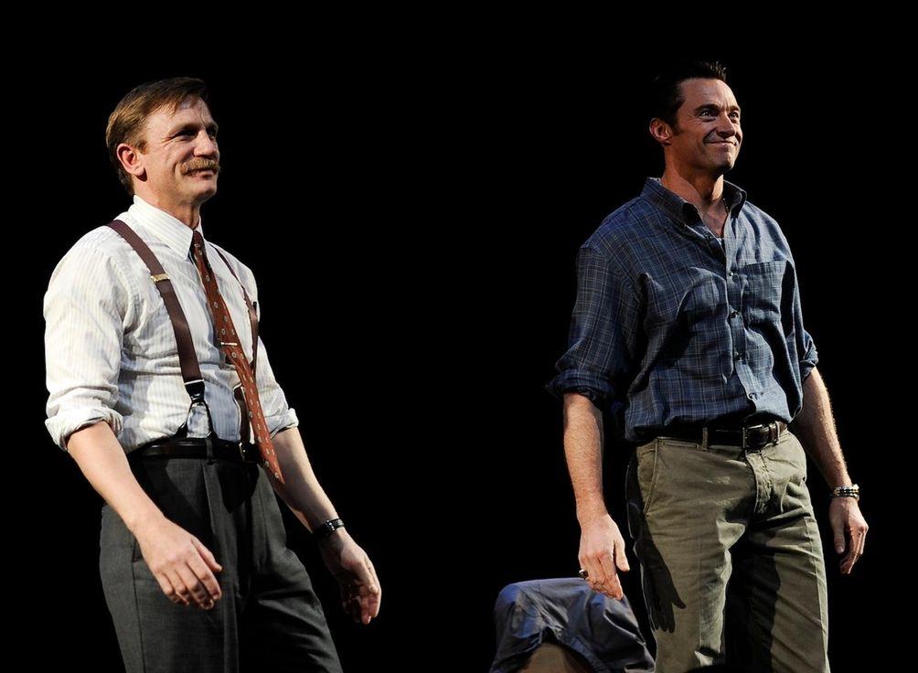 Daniel Craig, left, and Hugh Jackman played Denny