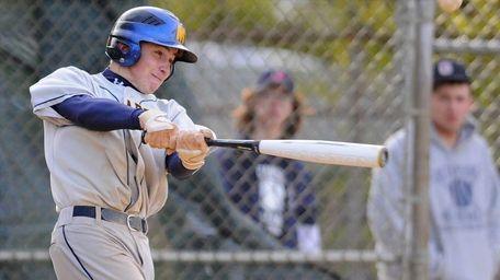 Massapequa High School shortstop #19 Bobby Honeyman laces