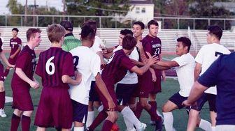 Tensions run high as a player brawl breaks