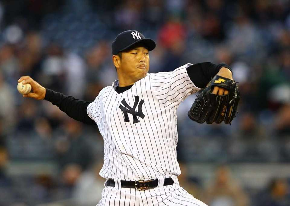 Hiroki Kuroda pitches against the Baltimore Orioles. (April