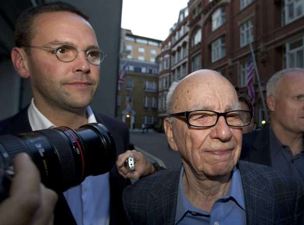 Rupert Murdoch in London. (July 10, 2011)