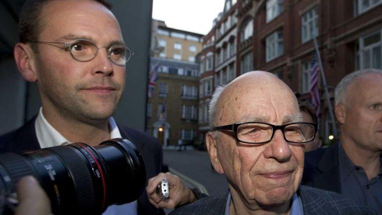 Rupert Murdoch in London. (July 10, 2011)