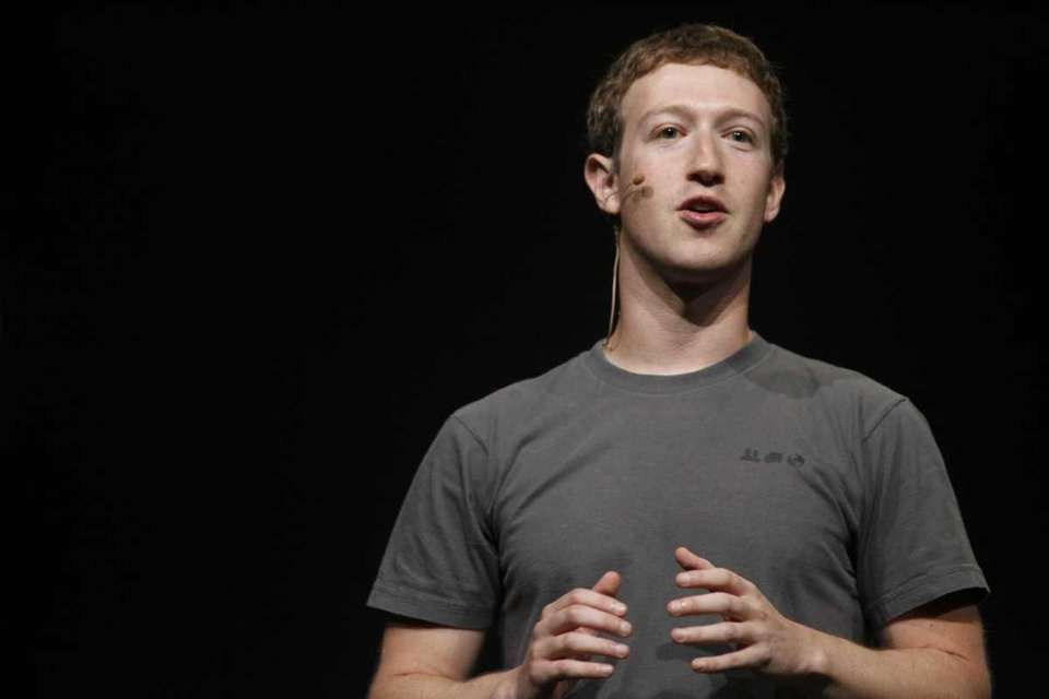 Facebook chief executive Mark Zuckerberg delivering a keynote