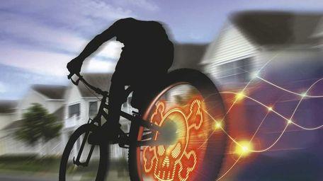 The Fuze Wheel Writer displays high-tech light effects