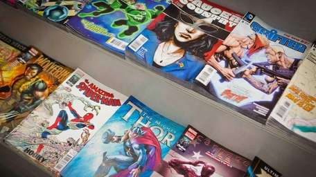 Comic books are on display at Fourth World