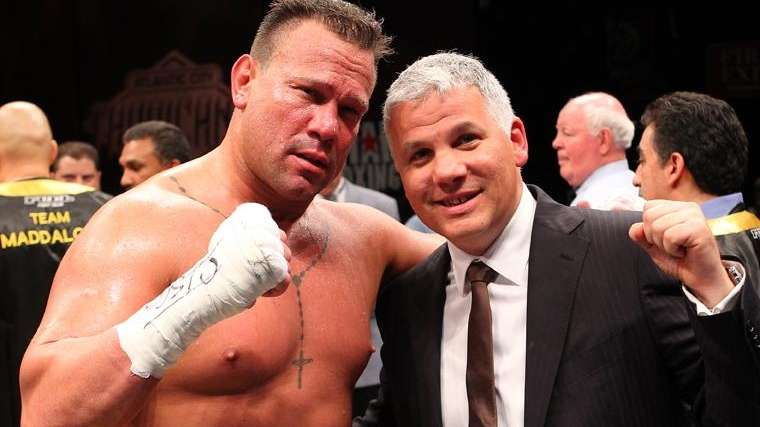 Heavyweight Vinny Maddalone and promoter Joe DeGuardia