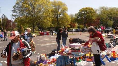 The Southdown PTA's yard sale at Southdown Primary