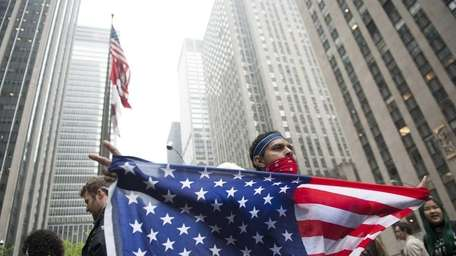 Occupy Wall Street protesters marched through the streets