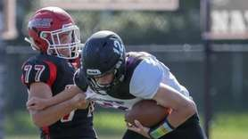 Mt. Sinai's Antonio Palmiotto sacks Port Jefferson's Luke