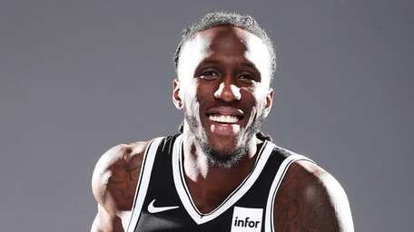 Taurean Prince of the Nets poses for a