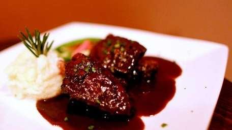 Tappo's wine-marinated short ribs. (April 28, 2012)