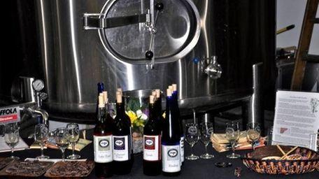 Chocolate and wine at Laurel Lake Vineyards.