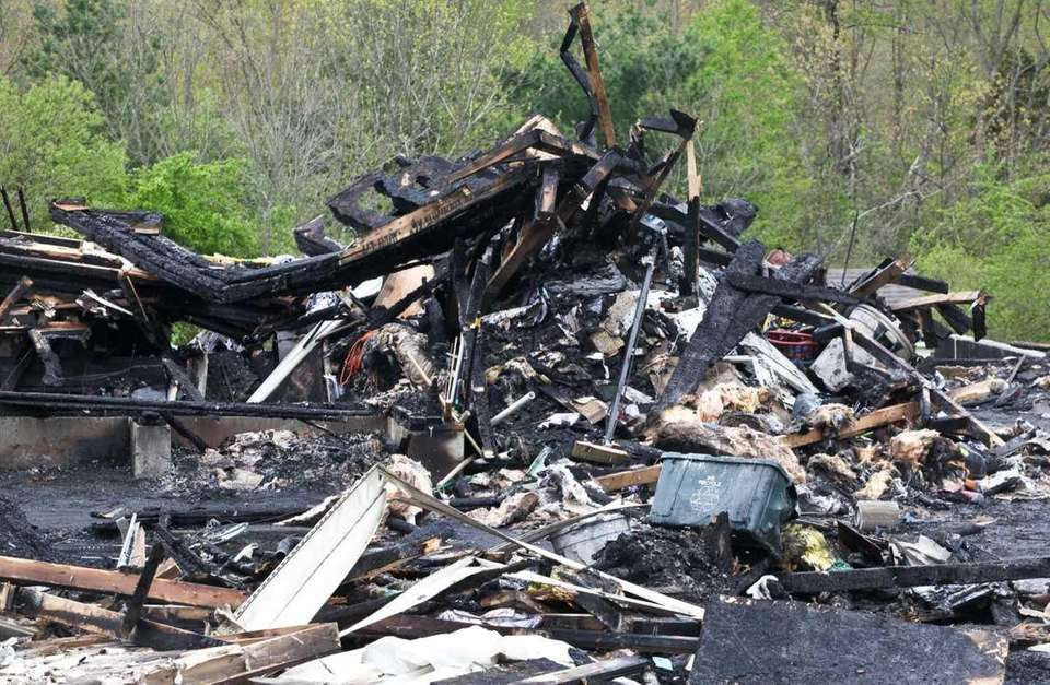 The scene of a devastating fire at the
