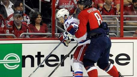 Alex Ovechkin #8 of the Washington Capitals and