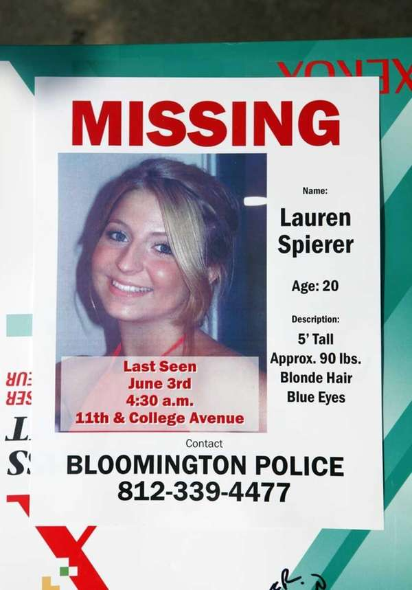A poster for Lauren Spierer, the Greenburgh native