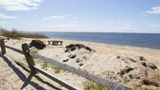 This beach is found off Bay Avenue in