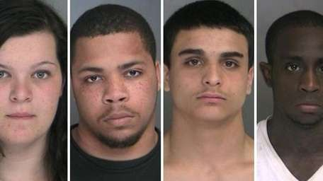 Police said they arrested four burglary suspects in