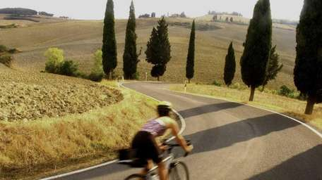 Cycling in Tuscany.