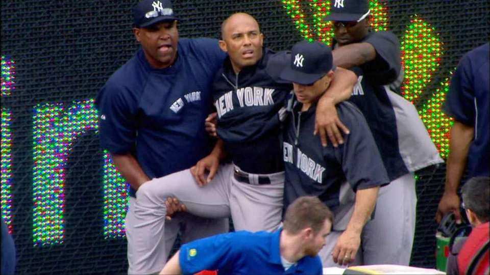 In this image taken from video, Yankees manager