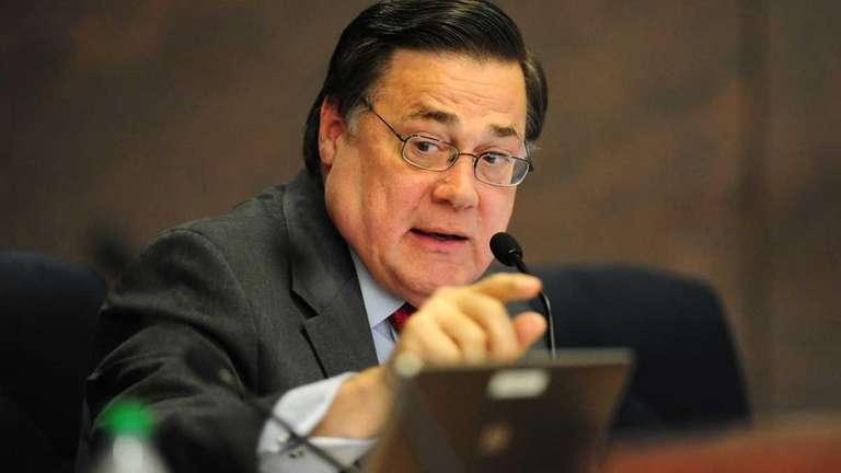Suffolk County Legis. Ed Romaine speaks during a