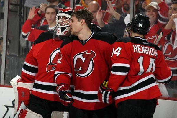 Alexei Ponikarovsky #12 of the New Jersey Devils