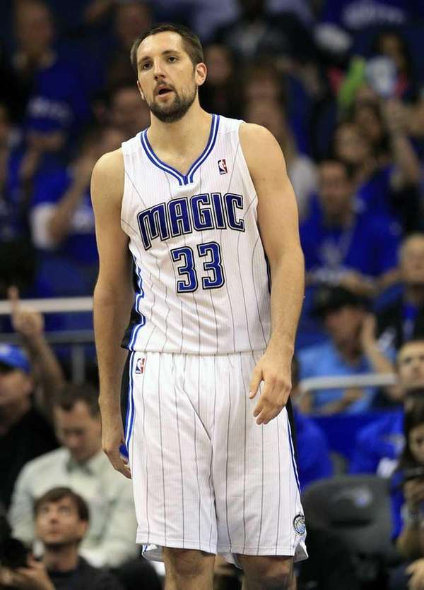 Orlando Magic's Ryan Anderson (33) walks on the
